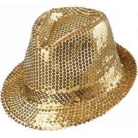 Chapeau borsalino sequin or adulte
