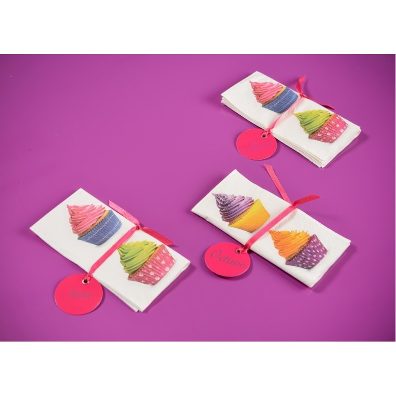 serviettes de table cupcakes papier les 20. Black Bedroom Furniture Sets. Home Design Ideas
