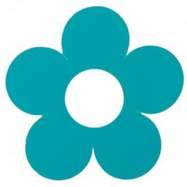 Marque place fleur turquoise carton 7 cm les 10