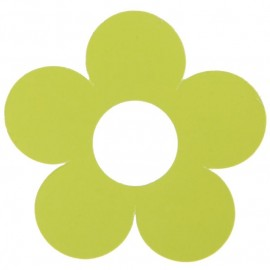 Marque place fleur vert anis carton 7 cm les 10