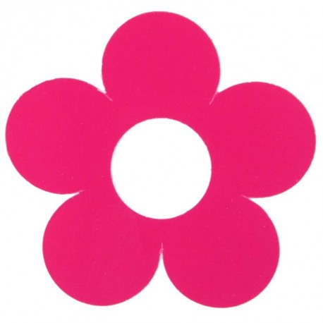 Marque place fleur fuchsia carton 7 cm les 10