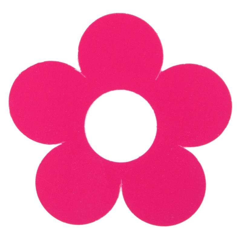 Marque place fleur fuchsia carton 7 cm les 10 - Fleur en carton ...