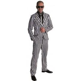Déguisement costume rayé noir et blanc homme luxe