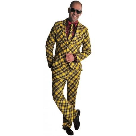 Déguisement costume écossais jaune et noir homme luxe