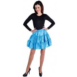 Déguisement jupe courte turquoise à volants satin femme