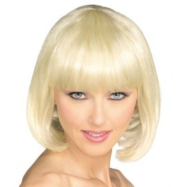 Perruque blonde courte femme luxe