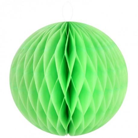 Boule papier alvéolé vert 30 cm les 2