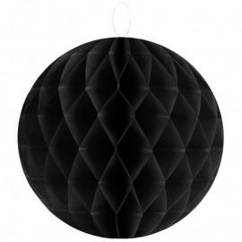 Boules papier alvéolé noir 30 cm les 2
