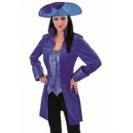 Déguisement marquise manteau bleu cobalt femme luxe
