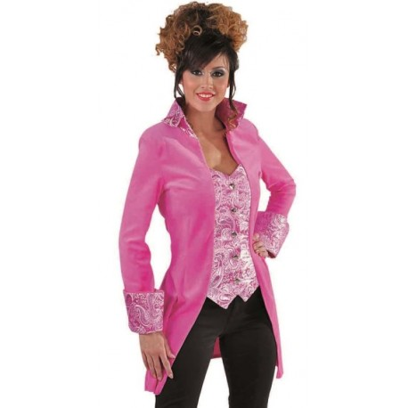 Déguisement marquise manteau rose femme luxe