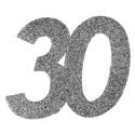 Confettis anniversaire 30 ans argent pailleté les 6