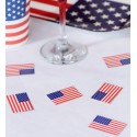 Confettis de table drapeau USA les 50