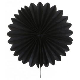 Eventail en papier noir 40 cm
