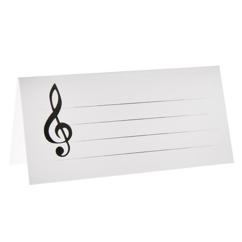 Marque place musique en carton blanc les 10 achat marque - Deco table reveillon st sylvestre ...
