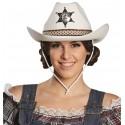 Chapeau cowboy blanc adulte