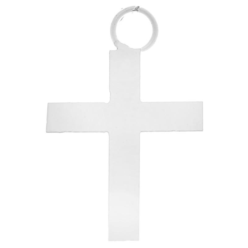 Pendentifs croix blanche d corative 2 5 cm les 6 - Le bureau croix blanche ...