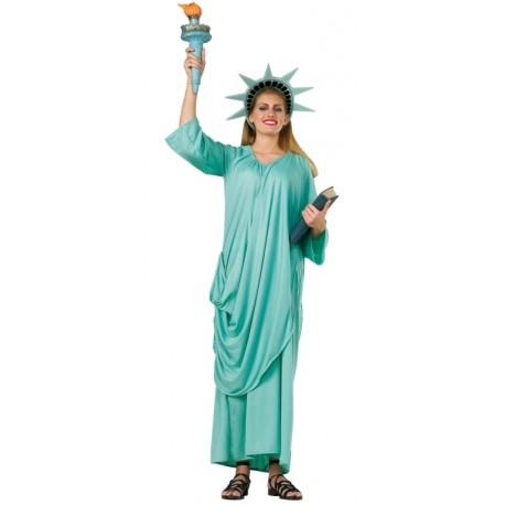 Déguisement statue de la liberté femme