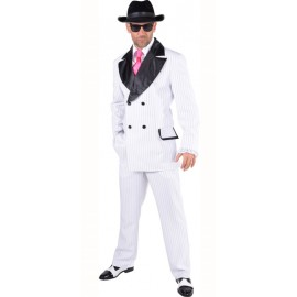 Déguisement gangster blanc homme luxe