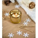 Confettis de table flocon de neige blanc 20 g