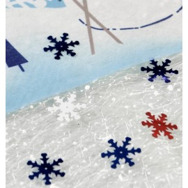 Confettis de table flocon de neige bleu 20 g
