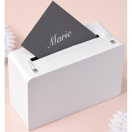Tirelire valise blanche en carton 24 cm