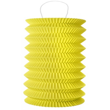 Lampion papier jaune 10 x 18 cm les 2