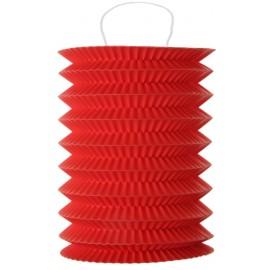 Lampion papier rouge 10 x 18 cm les 2
