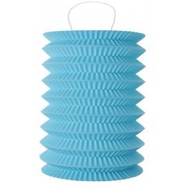 Lampion papier bleu 10 x 18 cm les 2