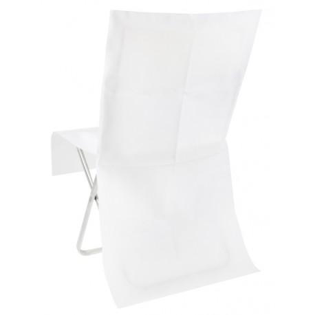 Housse de chaise blanche intissé opaque les 8
