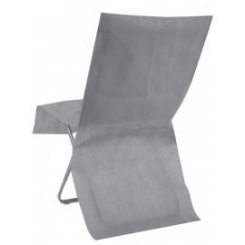 Housses de chaise grises intissé opaque les 4