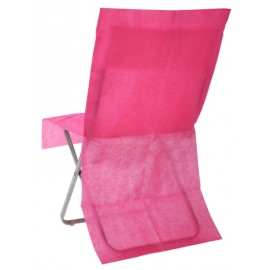 Housses de chaise fuchsia intissé opaque les 4