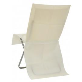 Housse de chaise ivoire intissé opaque les 4