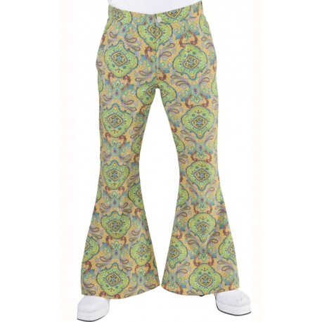 Déguisement pantalon hippie homme Summer of love luxe