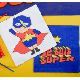 Serviette de table super héros boy papier les 20