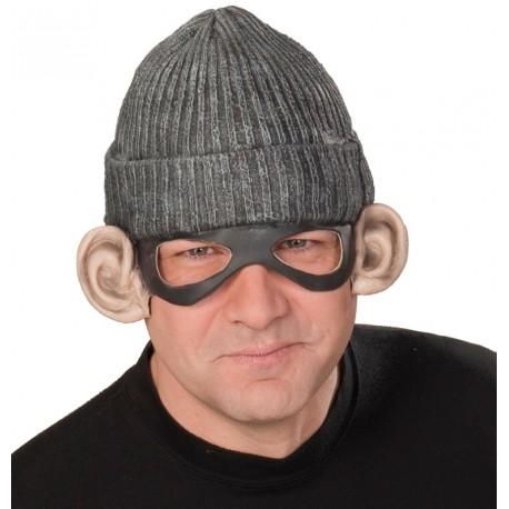 Bonnet gangster avec masque et oreilles adulte