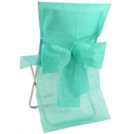 Housses de chaise intissé menthe avec noeud les 10