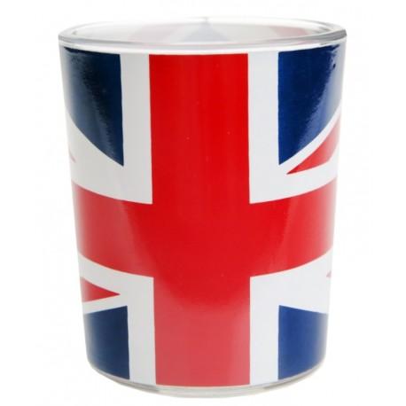 Photophore drapeau anglais en verre les 12