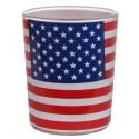 Photophores drapeau américain USA en verre les 12