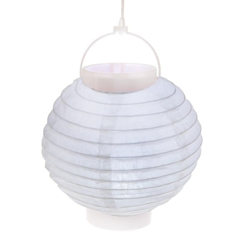 lampion lumineux boule papier blanc 20 cm. Black Bedroom Furniture Sets. Home Design Ideas