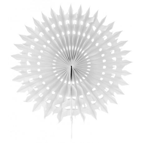 Eventail dentelle papier blanc 20 cm les 2