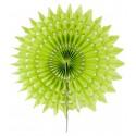 Eventails dentelle papier vert anis 20 cm les 2