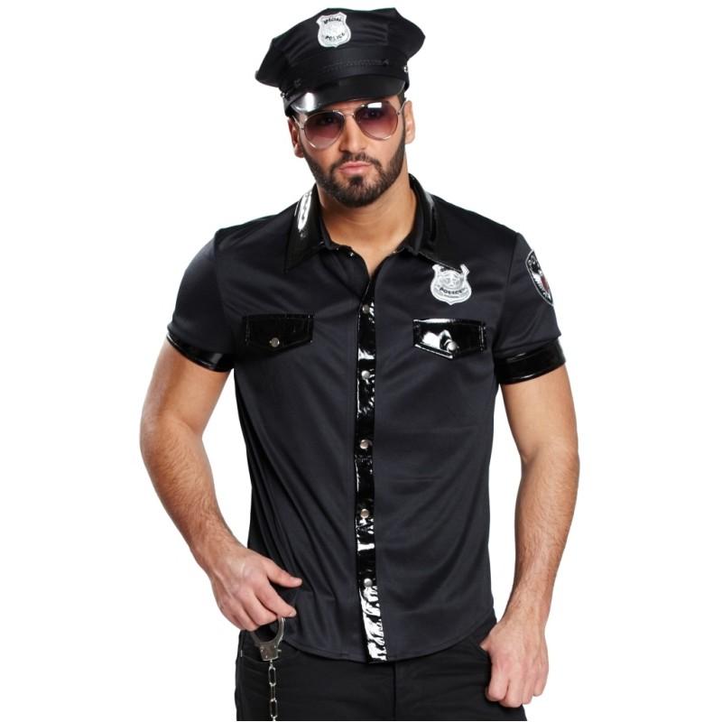 Déguisement chemise policier homme sexy   achat Déguisements poolicier 7e9e6bdb54ca