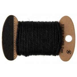Cordon coton noir 2 mm x 10 M