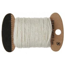 Cordon coton ivoire 2 mm x 10 M