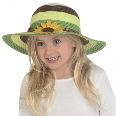 Chapeau de paille fille