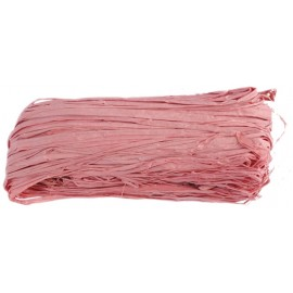 Raphia naturel rose pelote 50 g