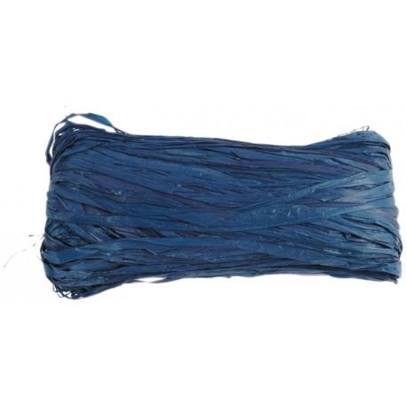Raphia naturel bleu marine pelote 50 g