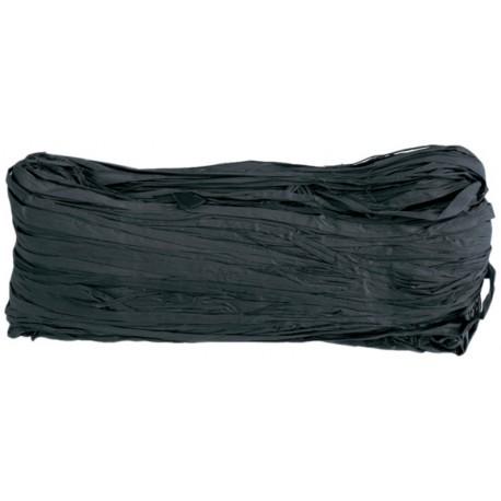 Raphia naturel noir pelote 50 g