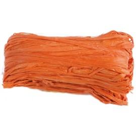 Raphia naturel orange pelote 50 g