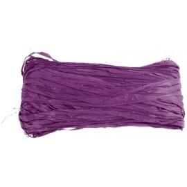 Raphia naturel violet pelote 50 g